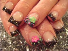 Healthy beautiful and stylish nails add to your well-groomed personality, that's why nail art is gaining more popularity. Mostly females of USA decorate their nails with different techniques. Camo Nail Designs, Nail Designs 2017, Unicorn Nails Designs, Cute Acrylic Nail Designs, Simple Nail Designs, Nail Art Designs, Black Nail Tips, Camo Nails, Purple Acrylic Nails