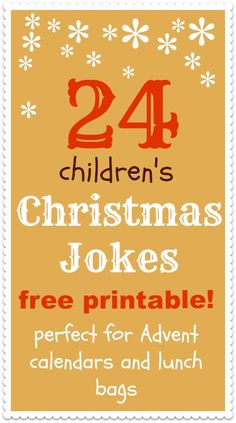 24 Christmas jokes for kids... this one is for you katrina... Arianna needs a few to laugh at over christmas break!