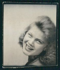** Vintage Photo Booth Picture **  Youthful, beautiful and happy...