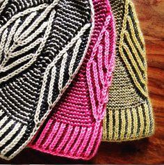 Вяжем бриошь.  Brioche with garter stitch