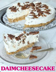 Daimcheesecake Desserts To Make, Delicious Desserts, Pie Dessert, Dessert Recipes, Pudding Desserts, Swedish Recipes, Something Sweet, Food Hacks, Food Inspiration