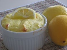 Low Carb Lemon Ricotta Souffle - This is heavenly at 130 calories each, 5 g carbs. A guilt-free filling dessert.