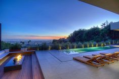 Spectacular view los angeles fireplace