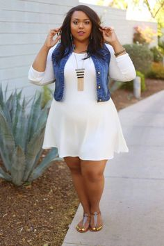 31+ feminine plus size summer outfits with dresses #plussize #outfit #dress