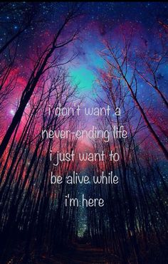 'i don't want a never-ending life i just want to be alive while i'm here' -Spirits by Strumbellas  iPhone wallpaper