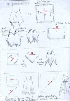 Perfect first project - makes a top, tunic, pinafore, or dress depending on the length. Use soft fabric that drapes well. ~Renata (annadrianna — «из платков» на Яндекс.Фотках)