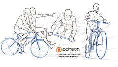 Biking reference sheet by Kibbitzer.deviantart.com on @DeviantArt