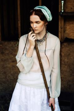 the hint of mint color blouse with the beautiful scarf and necklace are BEAUTIFUL! - Valerie van der Graaf and Johanna Fosselius engage in a pure lifestyle Tatler Hong Kong.