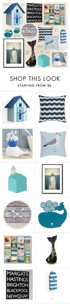 """""""Nautical Niceties"""" by redcandyuk ❤ liked on Polyvore featuring interior, interiors, interior design, home, home decor, interior decorating, Umbra, NeXtime, WALL and bathroom"""