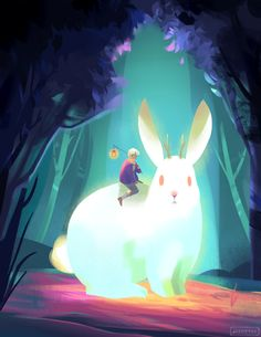 The jackalope and the lantern bearer 2nd of the gif series!