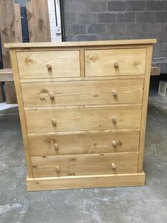 Shaker pine chest of drawers. CAN BE MADE ANY SIZE!