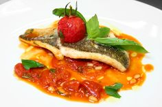 Baked Fish – Leeks, Tomatoes and Pine Nuts