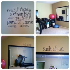 Home gym with ikea mirrors, bookshelves and vinyl inspiration :) Home Gyms http://amzn.to/2l56zQc