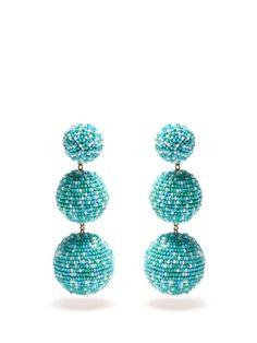 Bead-embellished drop clip-on earrings | Rebecca de Ravenel | MATCHESFASHION.COM