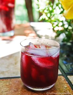 Hibiscus-Blueberry Cooler - a natural, non-alcoholic beverage to cool you off.