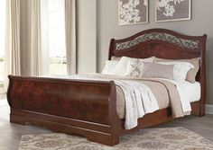 Delianna Reddish Brown King Sleigh Bed,Signature Design by Ashley