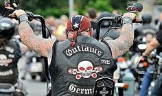 The McCook Outlaws Motorcycle Club is a Biker gang established out of Matilda`s Bar on old Route 66 in McCook, Illinois, U. just outside Chicago in 1935 Biker Clubs, Motorcycle Clubs, Outlaws Mc, Outlaws Motorcycle Club, America's Most Wanted, Old Route 66, Ape Hangers, Life Of Crime, Brothers In Arms