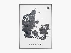 Danmarkskort Metal