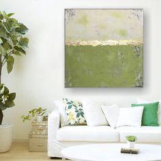 """Freue mich, euch diesen Artikel aus meinem Shop bei #etsy vorzustellen: VICTORIA XL Acryl Gemälde """"SPRING I"""" 90x90 Abstrakt mit Blattgold Modern, Love Seat, Couch, Furniture, Home Decor, Victoria, Abstract, Etsy, Abstract Art Paintings"""