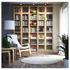Find best Billy bookcase IKEA now! Arranging your favorite books and decorating room can be done with best Billy bookcase from IKEA. Today, bookcases are Cool Bookshelves, Bookcase Shelves, Bookshelf Ideas, Book Shelves, Bookshelves For Small Spaces, Diy Bookshelf Wall, Bedroom Bookshelf, Bookshelf Lighting, Living Room Ideas
