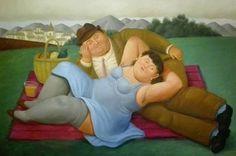 "Fernando Botero. ""Picnic"" 1932"