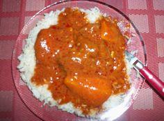 Recette du domoda à la viande, riz, tomate, viande, et un peu de farine pour épaissir la sauce. Senegalese Recipe, International Recipes, Crepes, Macaroni And Cheese, Food Porn, Menu, Tasty, Snacks, Dishes