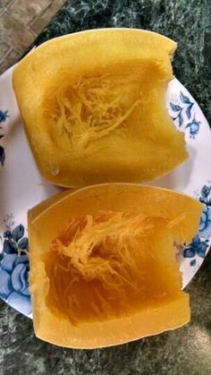 Spaghetti squash in my Power Pressure Cooker XL.  Cut in half, cleaned, placed on wire trivet with piece of foil for easy clean up.  ¾ cup water, set for 8 minutes on medium.