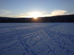 Alaska Photo of the Day! 13 Jan 13  Winter Sunrise Over Beach Lake in Chugiak, Alaska  http://www.AlaskaGreatOutdoors.com