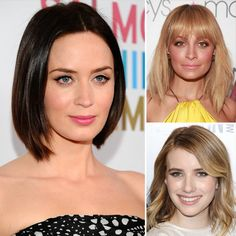 3 TIPS FOR PERFECT LOB - 1.Cut hair shorter and straight across in the back, and longer in the front. You'll avoid the tendency to look too soccer mom-ish. Have front skim shoulders  2. What makes celebs' lobs so cool is the uneven finish at the bottom. The thicker your hair, the choppier the ends should be.  3. Yes, everyone is getting superblunt bangs lately. And if you have thick hair that's great. But for the rest of us, side-swept bangs are more flattering.