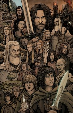 Lord of the Rings by Daniel-Jeffries on DeviantArt El señor de los anillos por Daniel-Jeffries Gandalf, Legolas, Aragorn, Thranduil, Der Hobbit Film, O Hobbit, Jrr Tolkien, Arte Nerd, Fantasy Movies