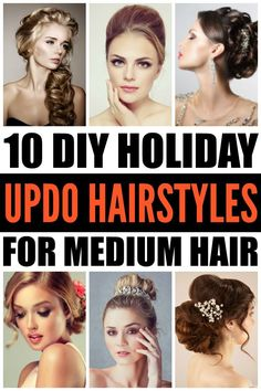Get ready to fall in love with these updo hairstyles for medium hair! These easy tutorials will show you how to get romantic updo looks that are perfect for the holiday season. Simple, classy, and perfect for shoulder length hair, these DIY hairstyles are