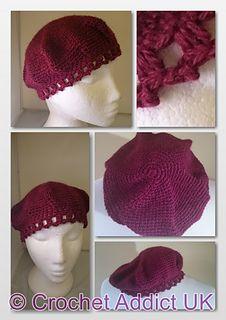 Inspired by a Kiss Beret - Free Crochet Pattern by Crochet AddictUK.