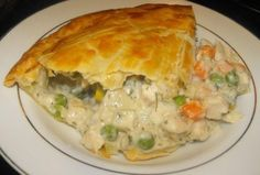 The BEST Chicken Pot Pie Ever! The BEST Chicken Pot Pie Ever! Used a rotisserie chicken, mixed veggies with carrots, onions and celery. Used heavy cream instead of half and half. 10 inch cast iron skillet which I preheated for about 10 minutes. Best Chicken Pot Pie, Chicken Recipes, Chicken Pot Pie Casserole, Chicken Pot Pie Recipe Pioneer Woman, Large Chicken Pot Pie Recipe, Chicken Pot Pie Recipe Pillsbury, Chicken Pie Puff Pastry, Chicken Pop Pie, Hamburger Casserole