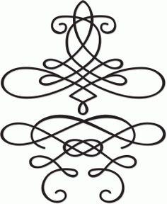 Silhouette Online Store - View Design #39410: calligraphic flourishes
