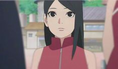 With a long hair and no glasses, Sarada looks very beautiful❤️