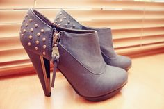 #love #shoes #booties #wedges #studs #pretty #photography #fashion #style #design