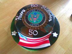 Military theme birthday cake