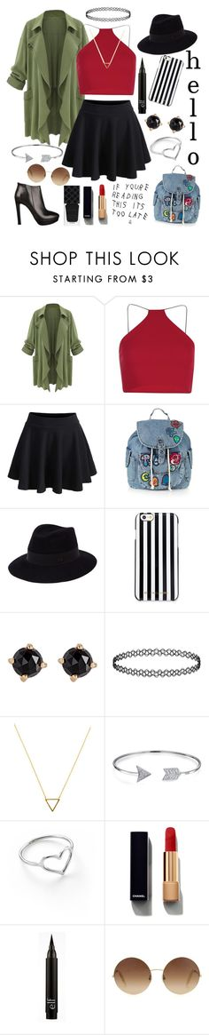 """""""Hello✌😘"""" by unicornpotter ❤ liked on Polyvore featuring Boohoo, Topshop, Maison Michel, MICHAEL Michael Kors, Irene Neuwirth, Wanderlust + Co, Bling Jewelry, Jordan Askill, Chanel and Victoria Beckham"""