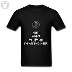 OPAND Keep Calm And Trust Me I'm An Engineer Men's Customized Crew Neck T Shirts Black XXL (*Amazon Partner-Link)