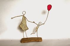 Image result for mixed media wire sculpture