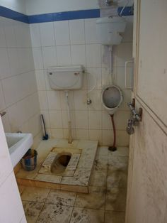 Compare & Contrast : The Potty | INDIA- Public Bathroom with Squat Toilet in India. (Shayublog)