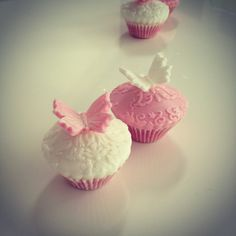 Mini butterfly cupcakes www.katemarycupcakes.com