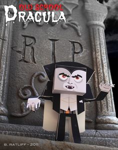 Chemical9: Old School Dracula paper toy and printable template