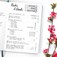 August Bullet Journal Setup including Habit Tracker, Calendex, Monthly Log and more beautiful pages. As well as a big Free Printable Bundle!