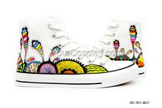 Colorful And Fantastic Coral Reefs Under The Sea Inspired Custom, New Arrival Hand Drawing Shoes, Cosplay Hand Drawing Shoes