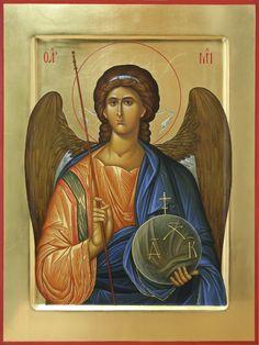 Αρχάγγελος Μιχαήλ / Archangel Michael Religious Images, Religious Icons, Religious Art, Catholic Art, Roman Catholic, Biblical Art, Byzantine Icons, Art Carved, Art Icon