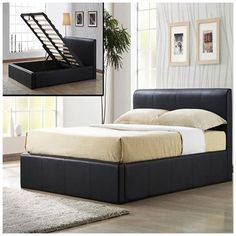 this luxurious frankfurt 4ft brown small double faux leather double storage bed frame has a sprung