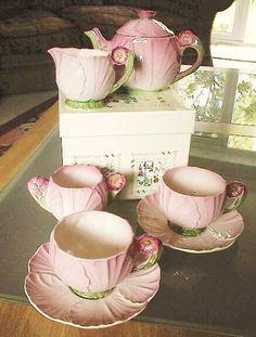 Carlton Ware Pink Buttercup tea for two
