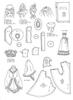 1880's clothing patterns - printable