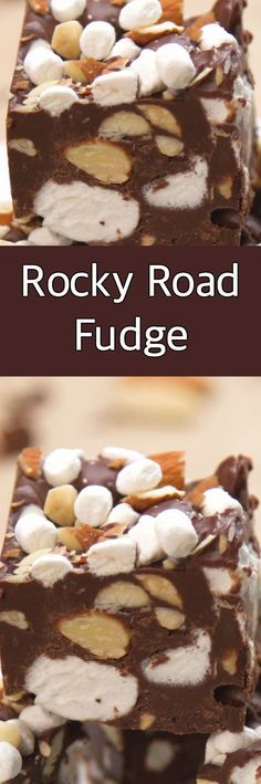 Rocky Road Fudge For fudge perfect for Christmas and beyond, turn to another kind of dessert for inspiration: ice cream! This Rocky Road Fudge is easy, classic and SO GOOD. Kinds Of Desserts, Köstliche Desserts, Delicious Desserts, Dessert Recipes, Rocky Road Fudge, Fudge Recipes, Candy Recipes, Yummy Treats, Sweet Treats